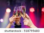 clinking glasses of champagne... | Shutterstock . vector #518795683