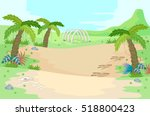 illustration of a prehistoric... | Shutterstock .eps vector #518800423