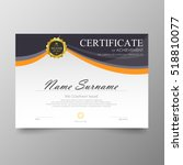 certificate template awards... | Shutterstock .eps vector #518810077