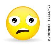 what emoji. shock emotion. wtf... | Shutterstock .eps vector #518827423