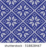 jacquard knitted seamless... | Shutterstock .eps vector #518828467