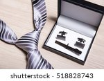 Close Up Of Tie And Cufflinks...