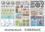 set of landscape elements.... | Shutterstock .eps vector #518830633
