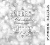 vector glittery lights silver... | Shutterstock .eps vector #518835103
