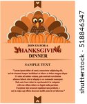 thanksgiving invitation card.... | Shutterstock .eps vector #518846347