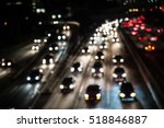 traffic on a highway  many cars ... | Shutterstock . vector #518846887