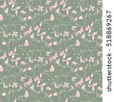 floral seamless vector... | Shutterstock .eps vector #518869267