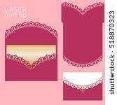 vector die laser cut envelope... | Shutterstock .eps vector #518870323