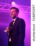 Small photo of The Engine Rooms Southampton - October 22 2016: Jonathan Scratchley lead vocalist with Gentleman's Dub Club performing at the Engine Rooms, Southampton, October 22 2016 in Southampton, Hampshire, UK