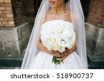 Nice White Wedding Bouquet In...
