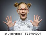 closeup portrait successful... | Shutterstock . vector #518904007