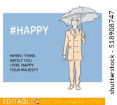 happy man wearing in the... | Shutterstock .eps vector #518908747