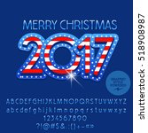 vector merry christmas 2017... | Shutterstock .eps vector #518908987