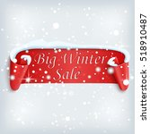 big winter sale poster. red ... | Shutterstock .eps vector #518910487