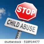 stop child abuse prevention... | Shutterstock . vector #518914477