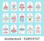 christmas label set elements... | Shutterstock .eps vector #518919727