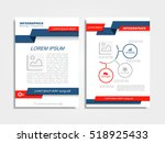 brochure design layout with... | Shutterstock .eps vector #518925433