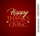 Happy Thanksgiving Typographic...