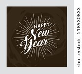 happy new year card. colorful... | Shutterstock .eps vector #518930833