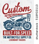 custom motorcycle typography  t ... | Shutterstock .eps vector #518933113