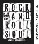 rock festival poster. rock and... | Shutterstock .eps vector #518933137