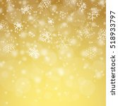 white snow fall background with ... | Shutterstock .eps vector #518933797
