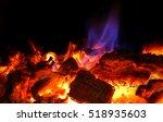 Beautiful Fire In The Fireplac...