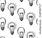 lamp light bulb hand drawn... | Shutterstock .eps vector #518938717