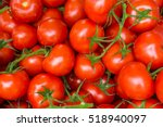Red Tomatoes Background. Group...