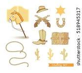set of decorative elements in... | Shutterstock .eps vector #518945317