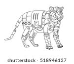 steampunk style tiger.... | Shutterstock .eps vector #518946127