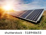 photovoltaic panels  ... | Shutterstock . vector #518948653