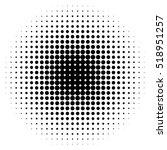 halftone circles  halftone dot... | Shutterstock .eps vector #518951257