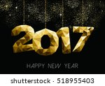 new year 2017 gold holiday...   Shutterstock . vector #518955403