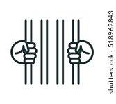 prisoner hands cell jail prison ... | Shutterstock .eps vector #518962843