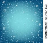 winter blue background with...   Shutterstock .eps vector #518964163