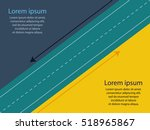 colorful road infographic... | Shutterstock .eps vector #518965867