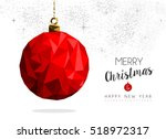 merry christmas and happy new... | Shutterstock . vector #518972317