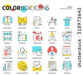 color box icons  design concept ...