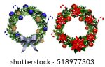 white card with christmas... | Shutterstock .eps vector #518977303