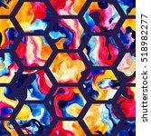 Watercolor Hexagon Seamless...