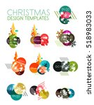 christmas sale stickers  circle ... | Shutterstock .eps vector #518983033