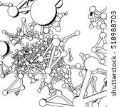 plexus atomic lattice in the... | Shutterstock .eps vector #518988703