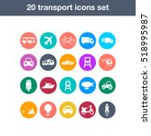 flat transport icons set | Shutterstock .eps vector #518995987