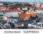 roof view of copenhagen  denmark | Shutterstock . vector #518998843