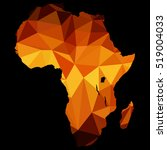 map of africa polygon  made of... | Shutterstock .eps vector #519004033