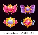cute fantasy decorative... | Shutterstock .eps vector #519004753