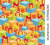 seamless pattern of boxes with... | Shutterstock . vector #519006283