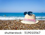 Hat  Sunglasses On The Beach O...