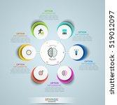 modern infographic design... | Shutterstock .eps vector #519012097